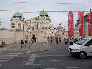 Entrance gate to Belvedere Palace in Vienna.