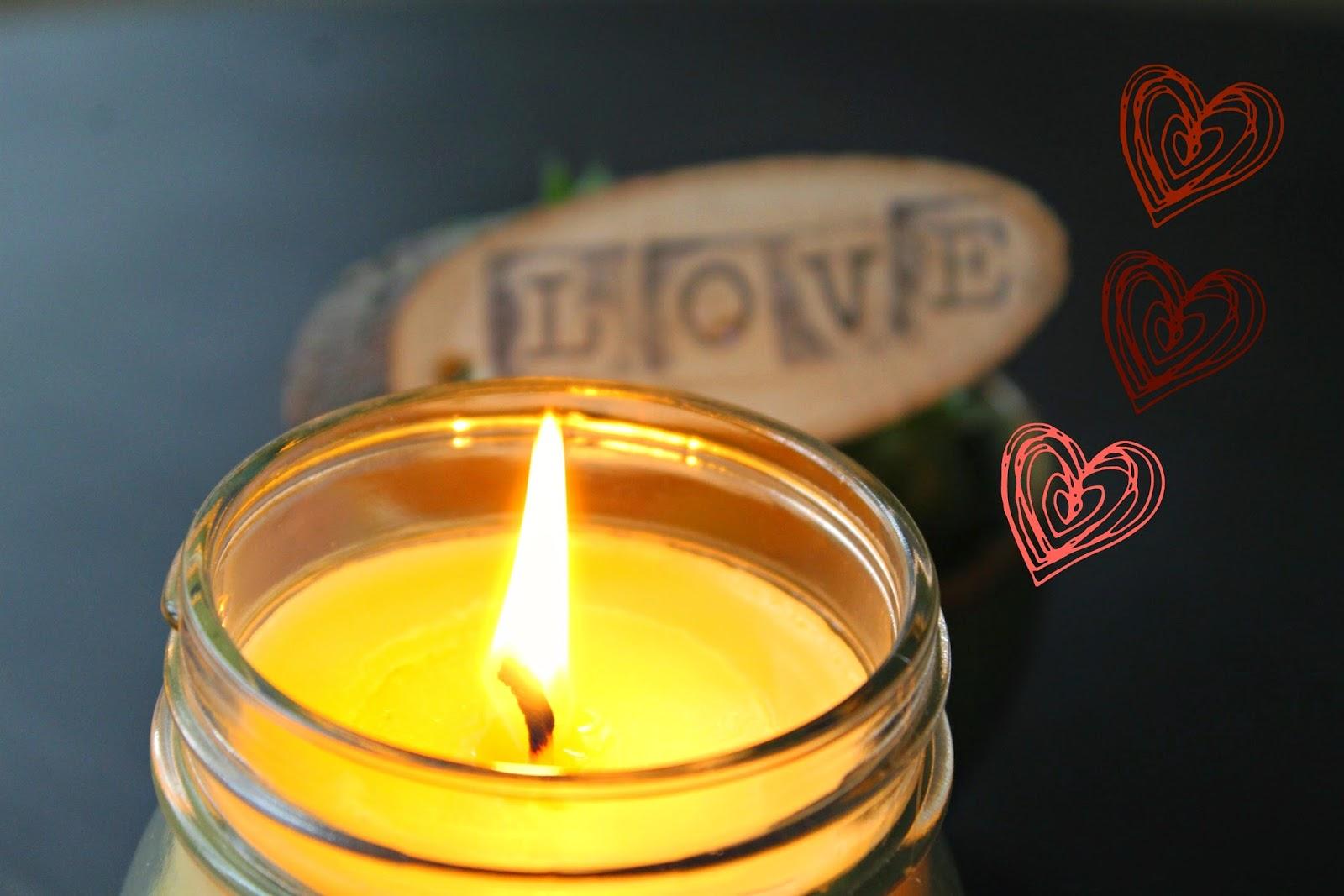 Natural Massage Oil Candle {DIY}