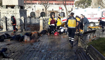 ISIS suicide bomber blows himself up in centre of Istanbul killing 10 tourists 1