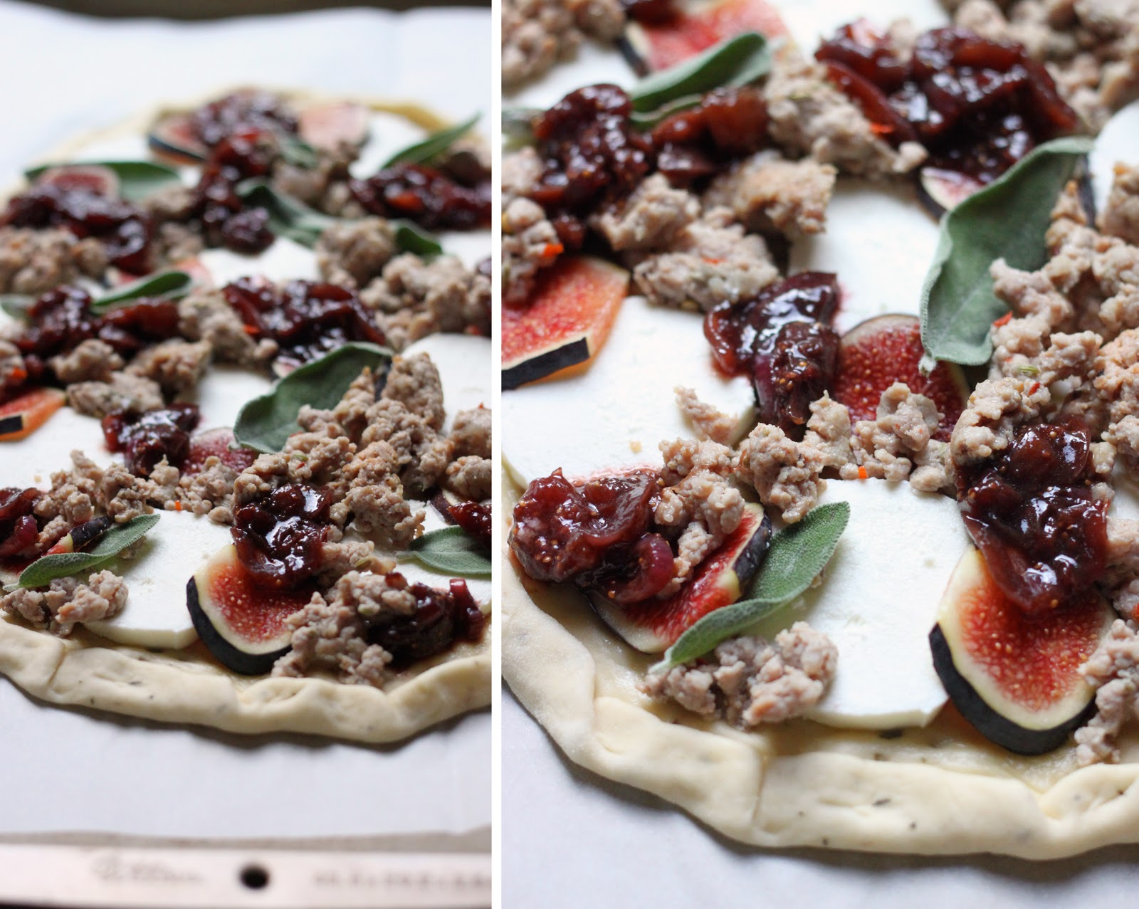 The Cilantropist: Sausage and Goat Cheese Pizza, with Balsamic Onions ...