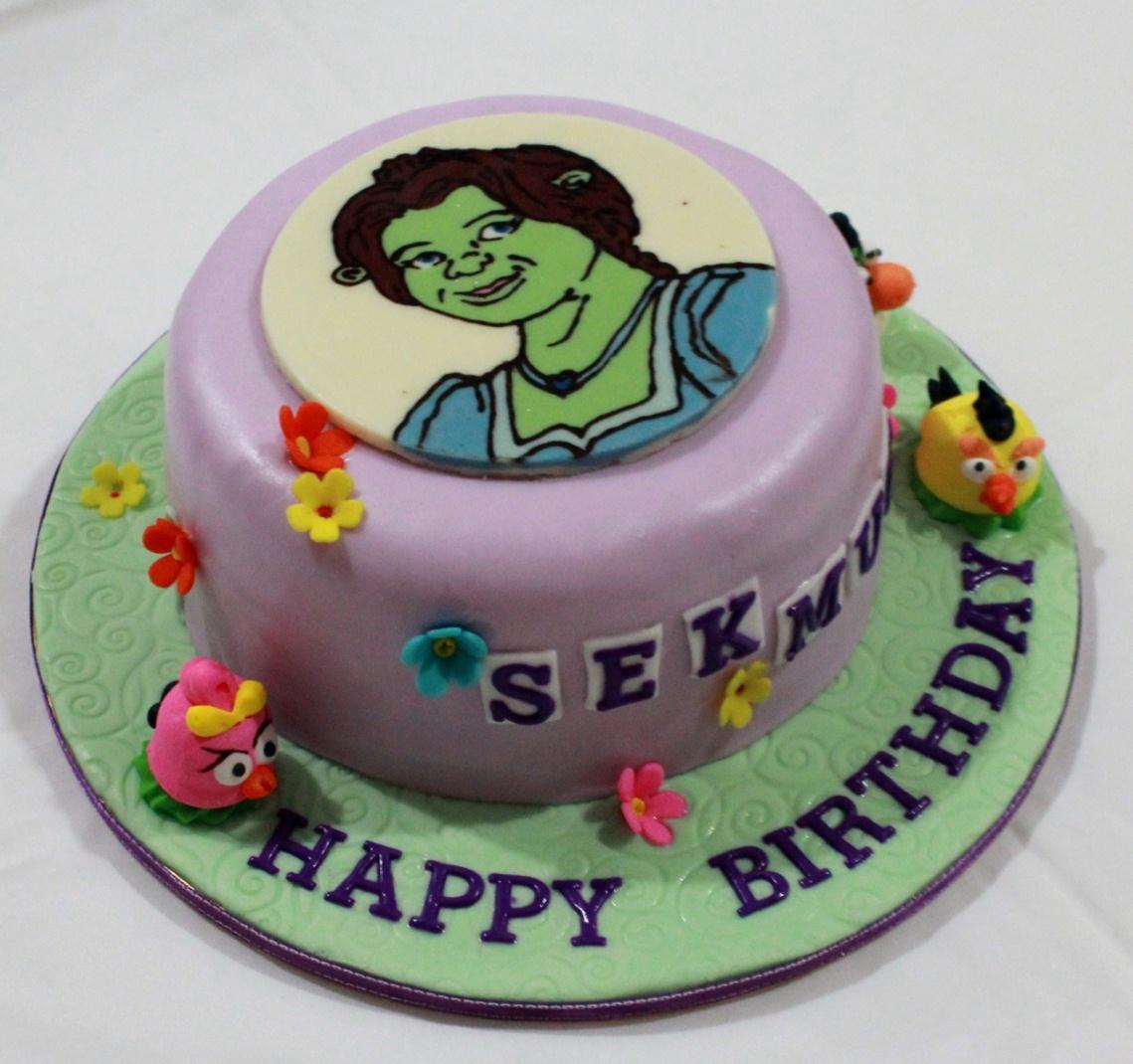 Bearylicious Cakes Princess Fiona And Angry Bird Birthday Cake