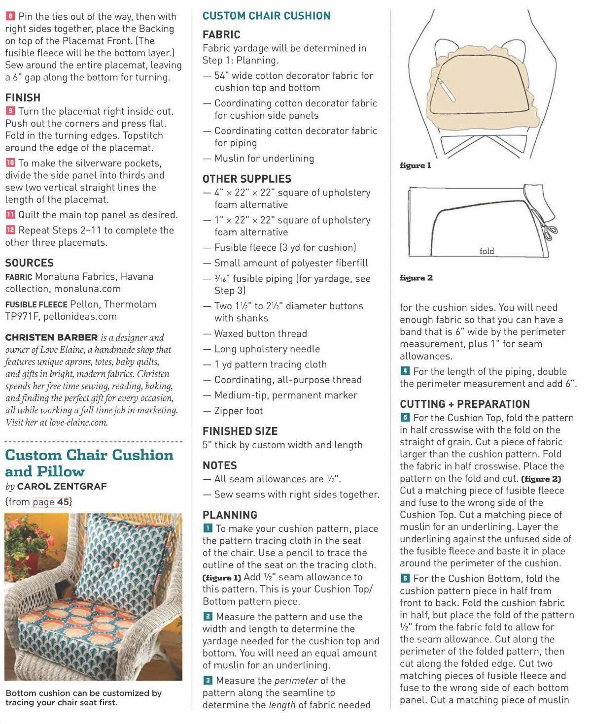 Costura Borda Decora: Como Fazer Almofadas Para Cadeiras De Vime #A36C28 1199x1470