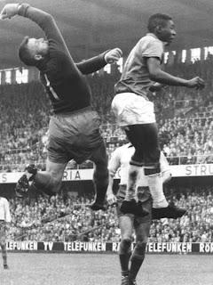 Pelé en la final de 1958
