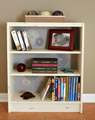 chalk paint bookcase - Turtles and Tails blog