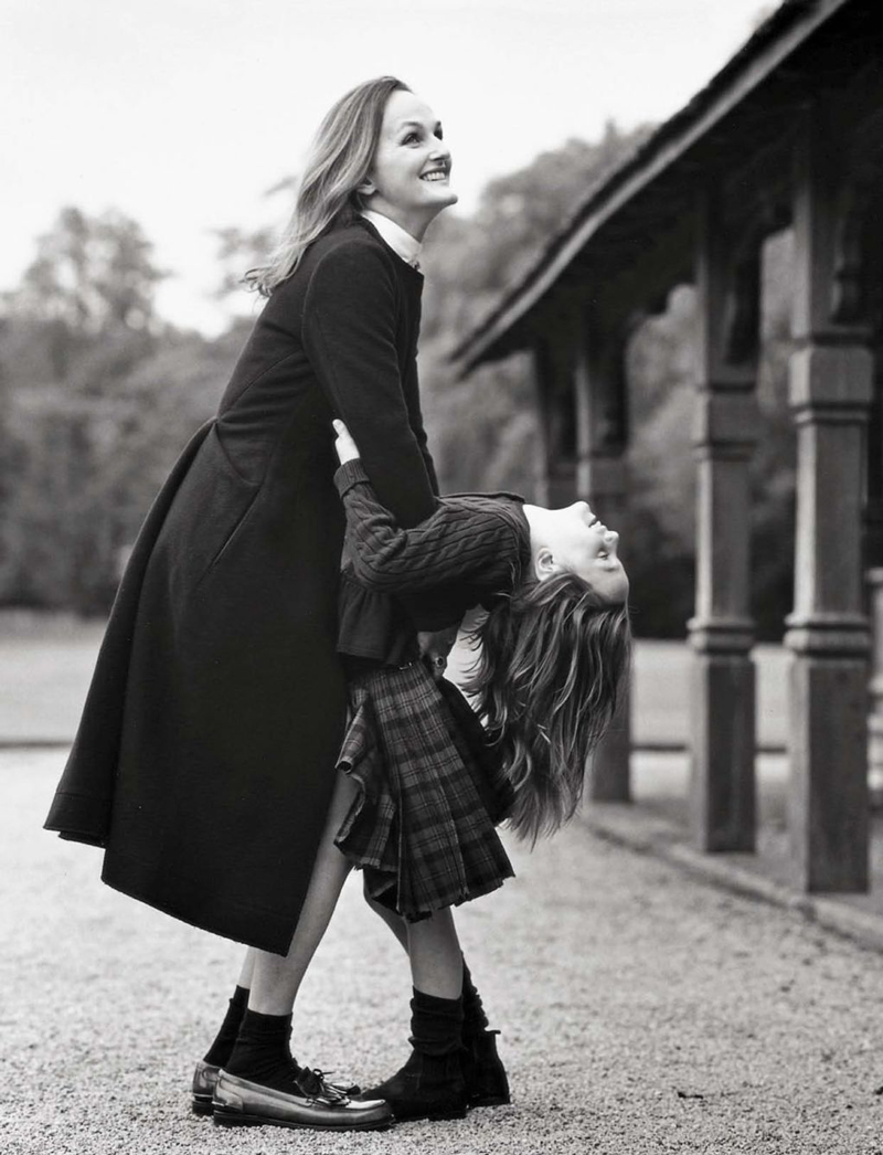 Lady Isabella Cawdor & Beatrice photographed by Bruce Weber for Vogue Italia October 2012 / baby girl, mother & daughter fashion editorials / models & their children / via fashioned by love british fashion blog