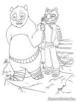 Mewarnai Gambar Kungfu Panda Dan Master Tiger