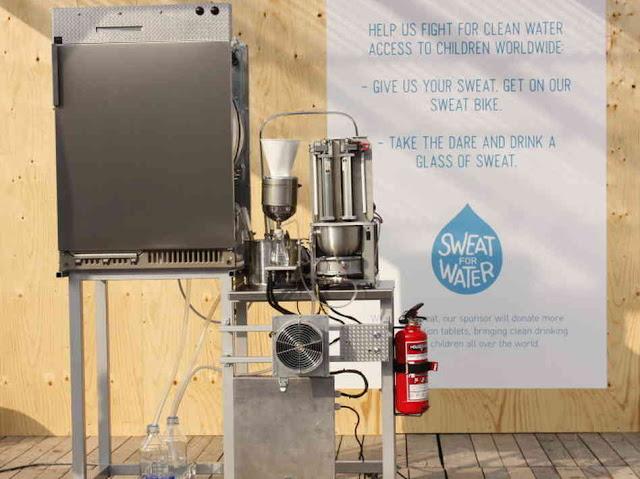 Mesin yang menukar peluh menjadi air minuman