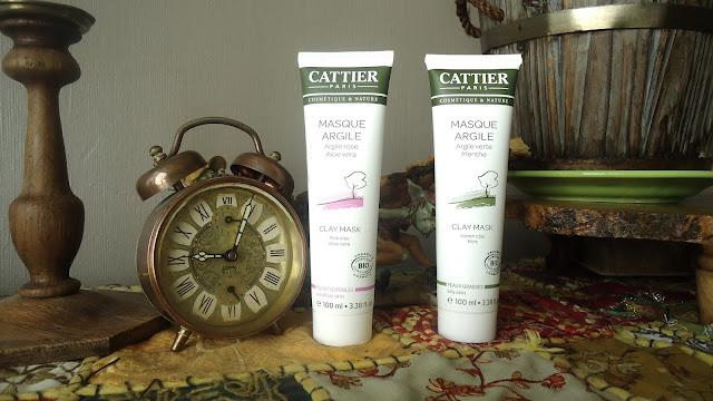 masque à l'argile verte et à l'argile rose de chez Cattier.