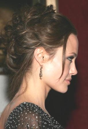 Angelina+Jolie+French+Twist+Classic+Updo How to French Twist Your Own Hair Tutorial Video | Cute Updo Hairstyle