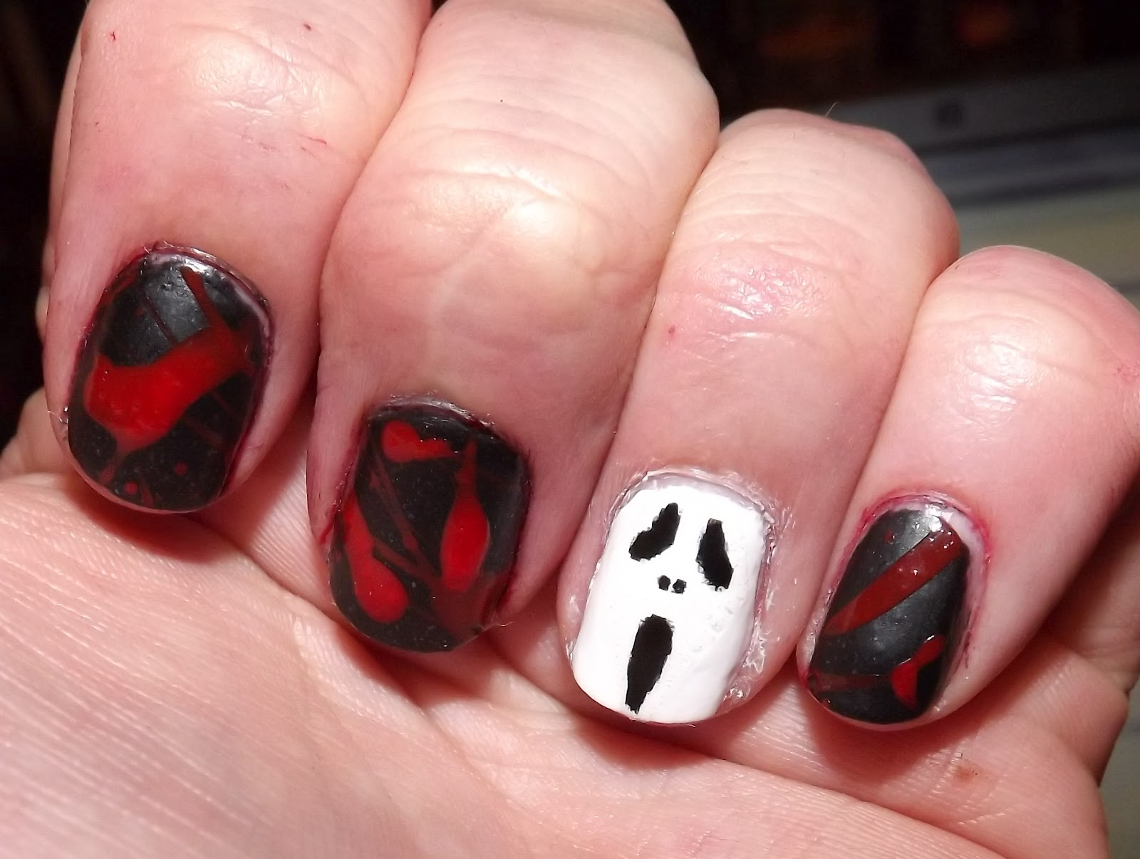 Tales From The Makeup Bag This Is Halloween Nail Art Challenge