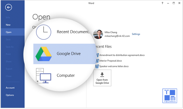 Google Drive Plugin for Microsoft Office