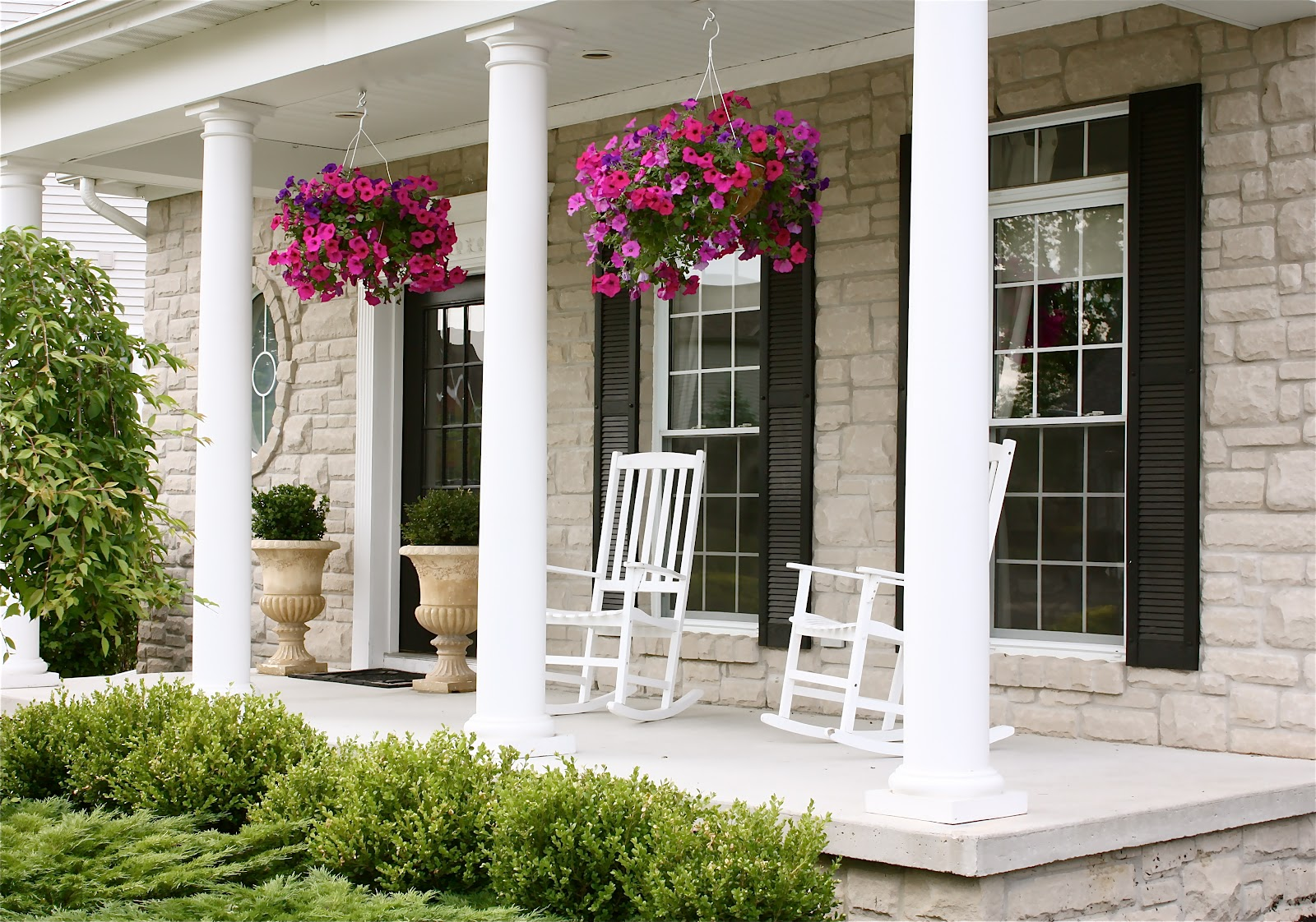 the yellow cape cod: summer porch time