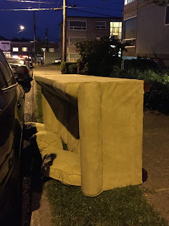 Sleeper Sofa on its Side