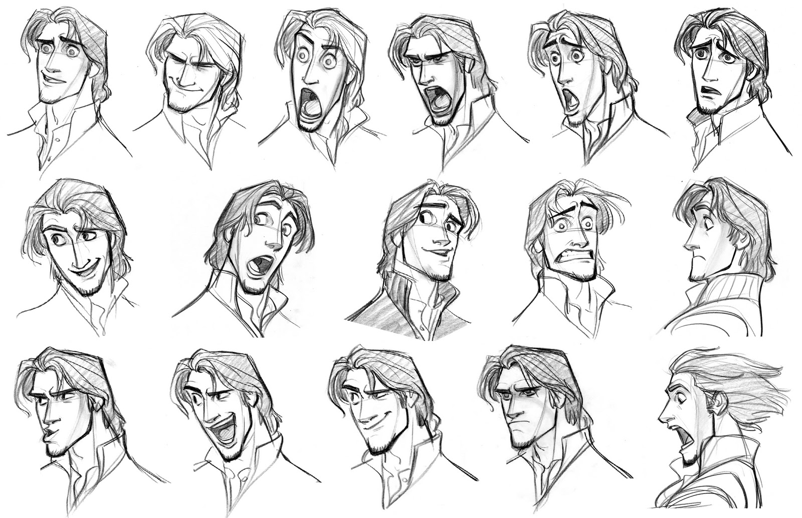 Cartoon Concept Design TANGLED Sketches And Characters