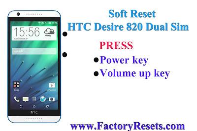 Soft Reset HTC Desire 820 dual sim