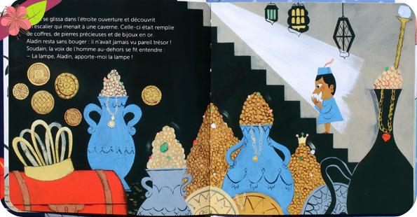 Aladin de Émilie Bélard et Caroline Dall'Ava - éditions Milan