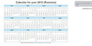 Generator calendar - TimeAndDate.com - printare calendar