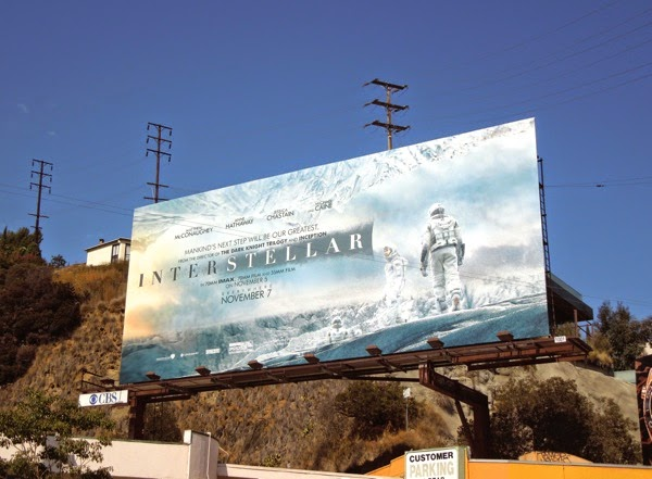Interstellar ice planet movie billboard