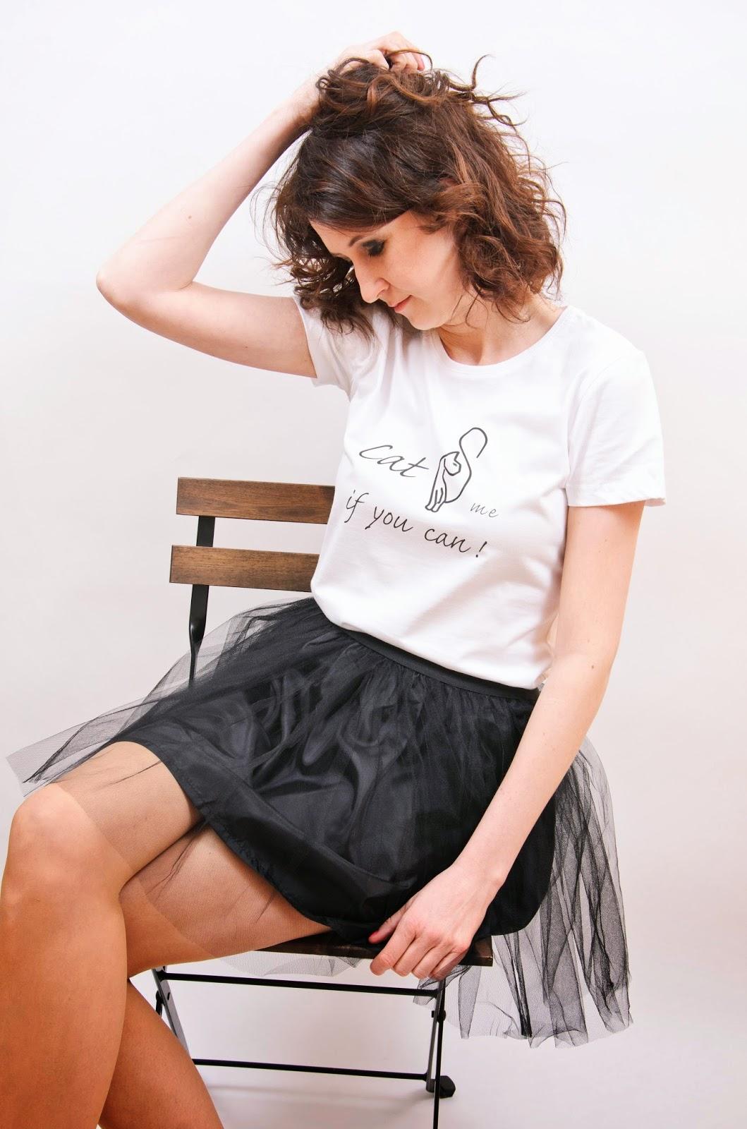 t-shirt z nadrukiem Isa Flower Dawanda