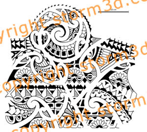 polynesian tribal flash halfsleeve tattoos for sale