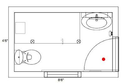 Planos gratis de cuartos de ba o ba os y muebles for Medidas de muebles en planta
