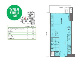 Solstice Makati Studio Unit Plan