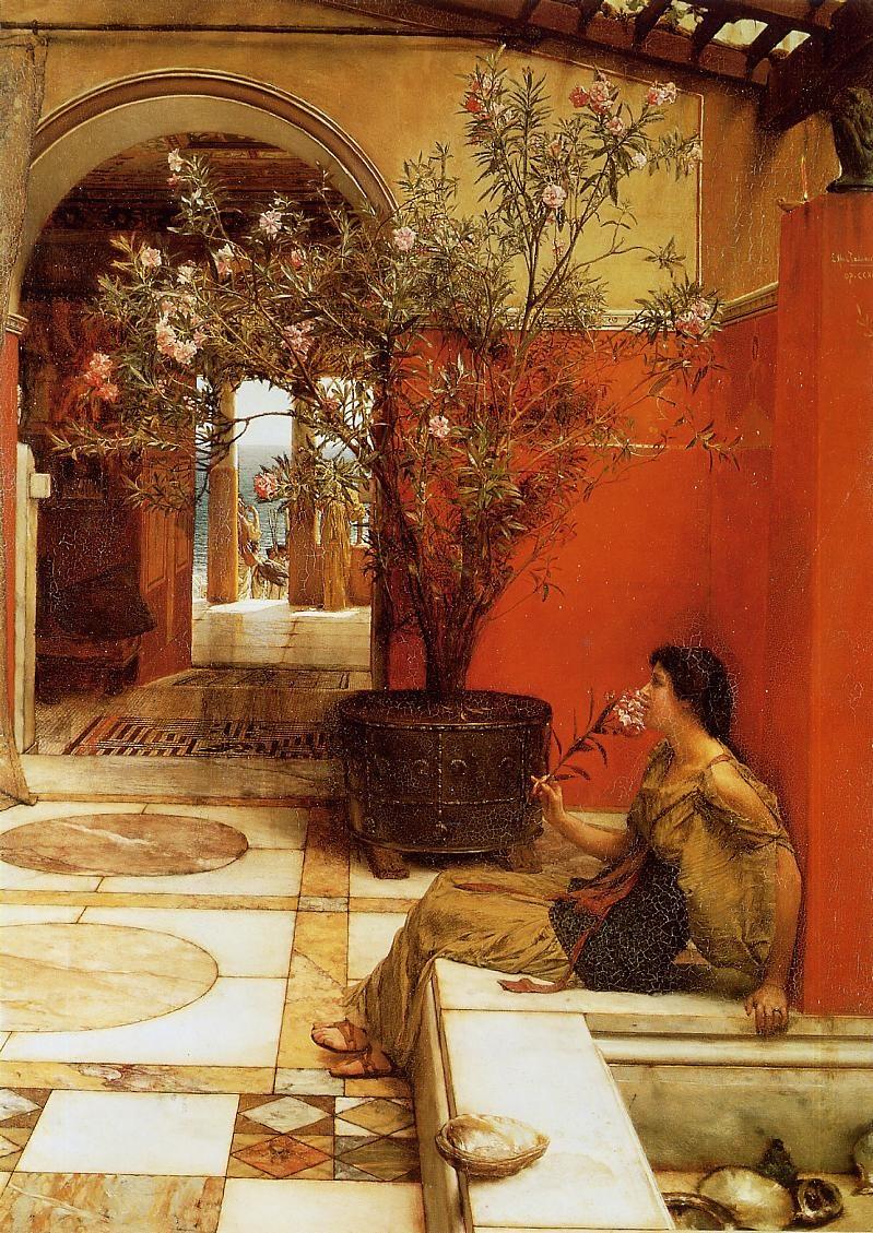 alma-tadema oleander painting