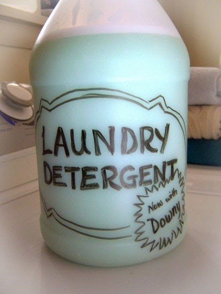 Homemade Custom-Scented Liquid Laundry Detergent