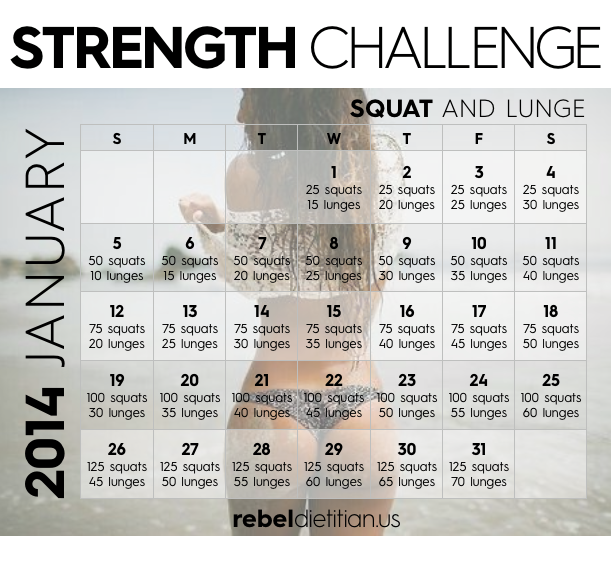 The yve olution of me 30 day plank amp squat lunge challenge day 1
