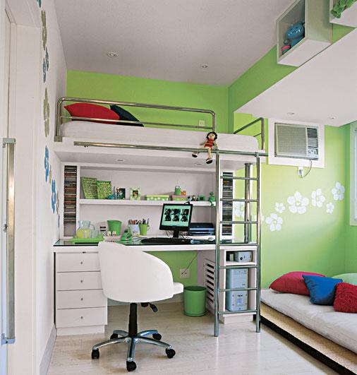Casinha Bonitinha 15 quartos de menina tudo  ~ Quarto Pequeno Verde