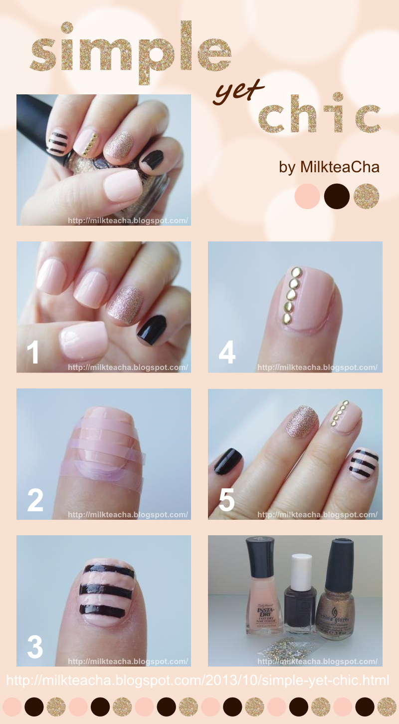 Simple yet Chic nails tutorial