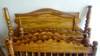 Wooden cot designs kerala Style
