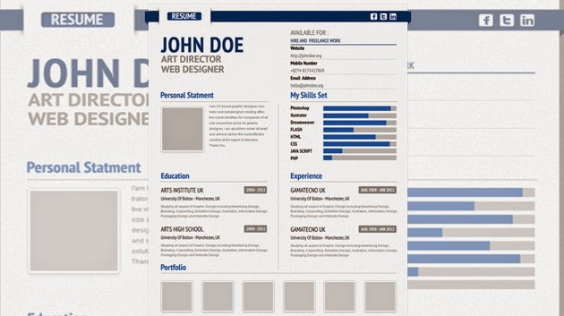 professional cv free resume template 2015 form psd
