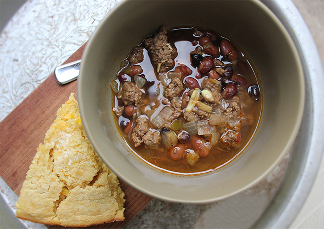 Chili and Gluten-Free Cornbread