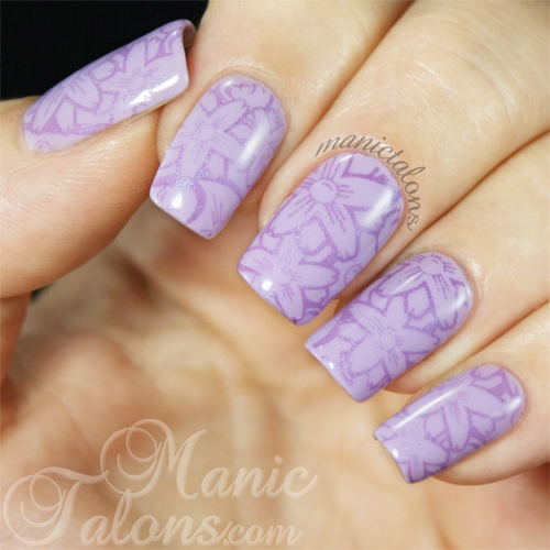 Subtle Stamping Manicure with Pueen Encore Collection