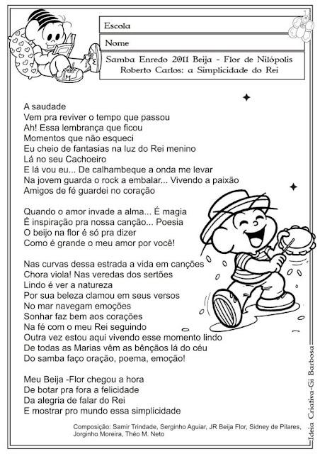 Atividade Projeto Carnaval Biografia Roberto Carlos