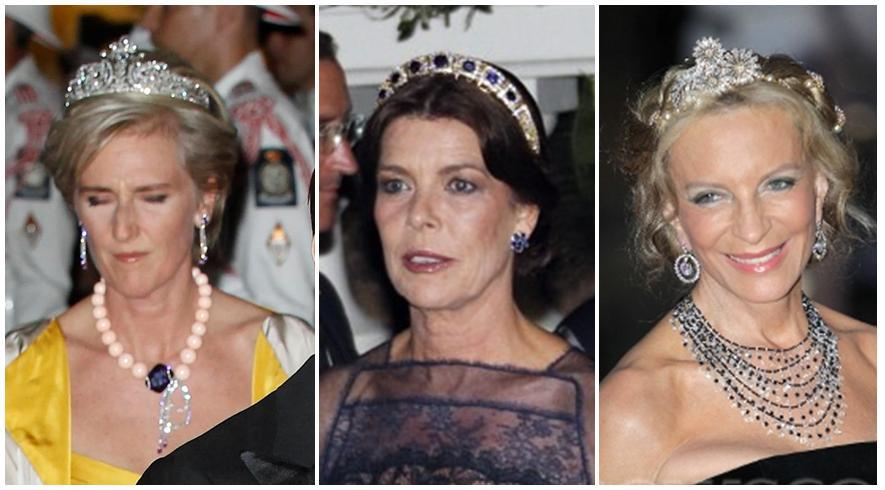 tributes to their own bridal days by wearing her wedding tiara