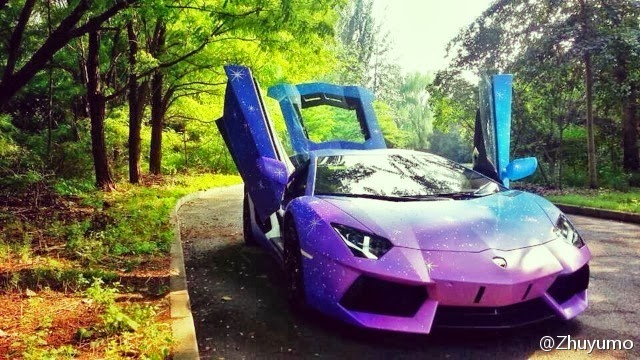 Lamborghini Aventador Gets Galaxy Wrap