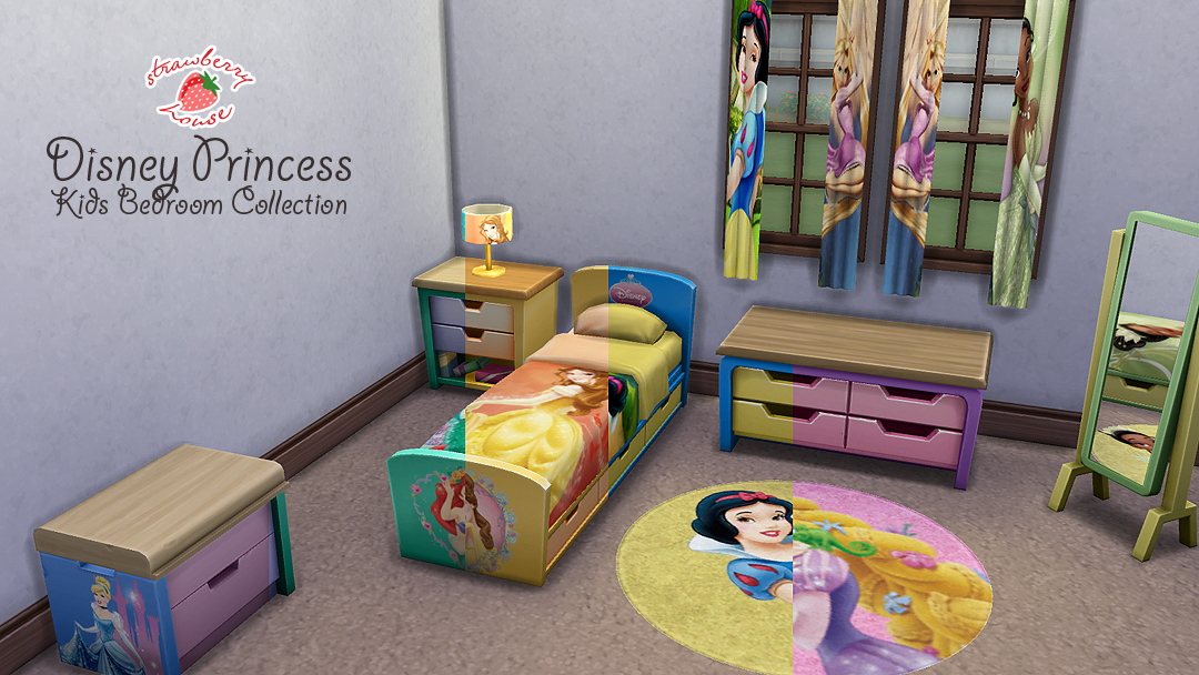 My Sims 4 Blog Disney Princess Kids Bedroom Collection By Strawberryhousesims