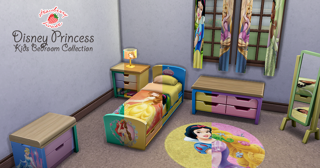 My Sims 4 Blog Disney Princess Kids Bedroom Collection By