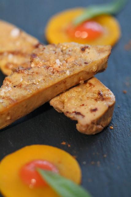 foie gras poché,vin , Noel , butternut, coing