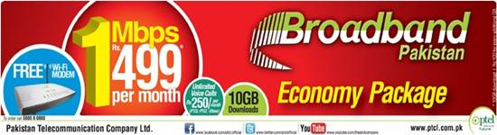ptcl-broadband-economy-package