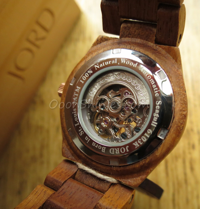 JORD Wood Watch Cora Koa Rose Gold