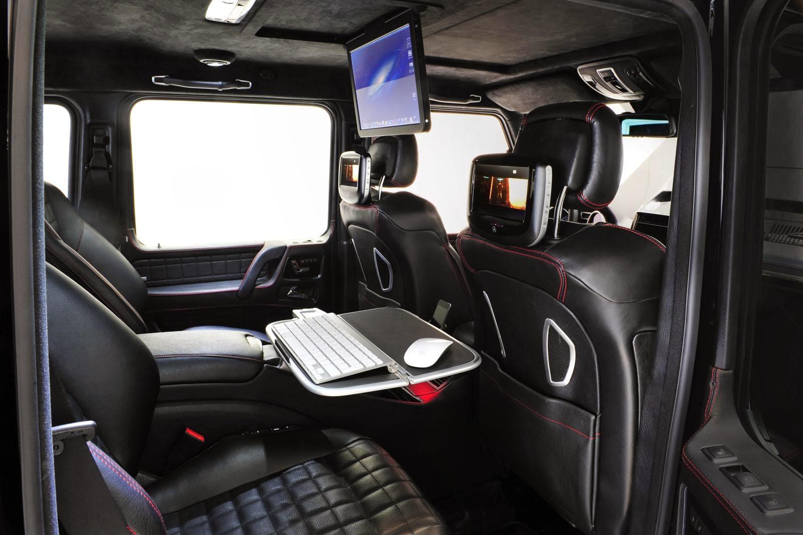 Back Seats of Brabus's 800 iBusiness GWagon