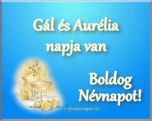 Október 16 - Gál, Aurélia névnap