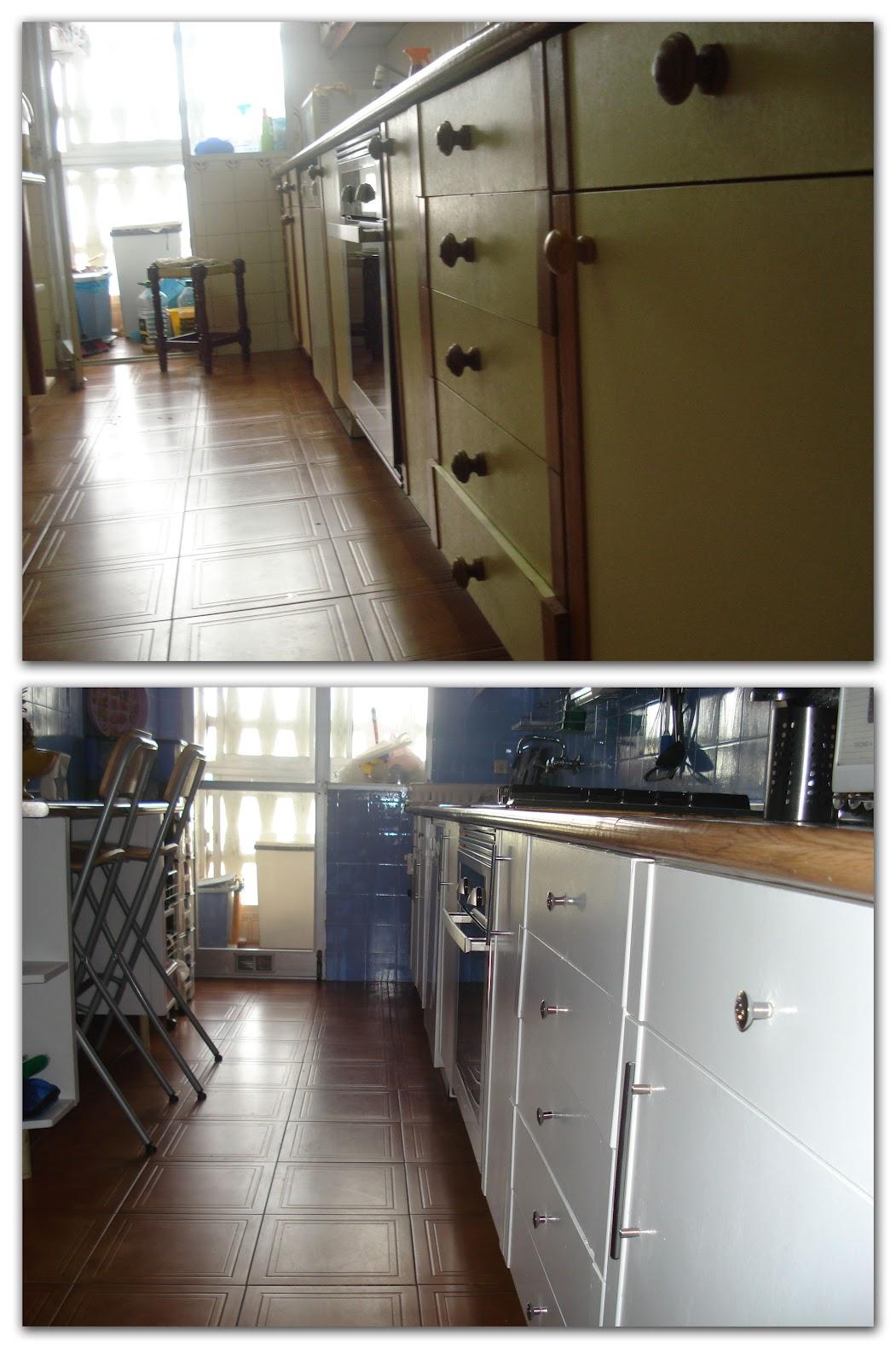 Antes y despu s de la cocina de vanesa - Pintar muebles de cocina ...