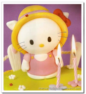Manualidades En Porcelana Fr  A  Hello Kitty Adorno Para Tortas