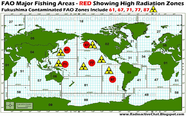 FAO MAJOR FISHING AREAS RADIATION MAP
