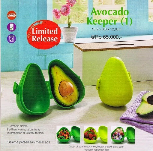 Avocado Keeper Tupperware