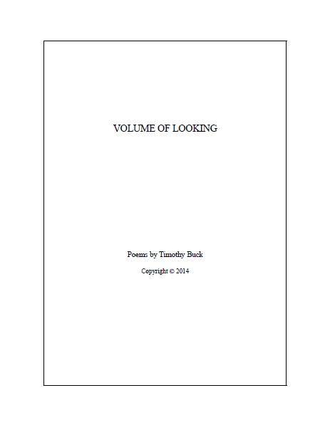 Volume of Looking (poems)